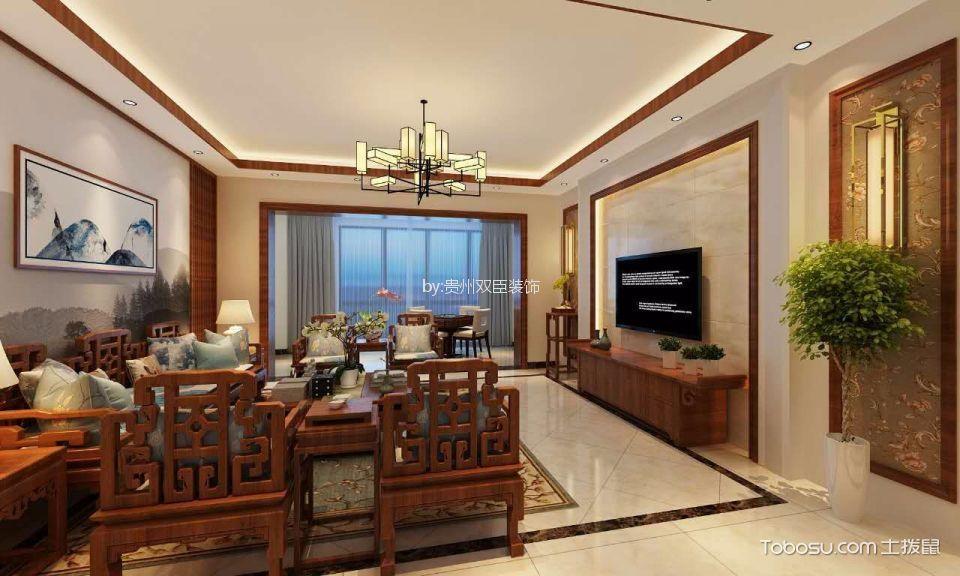 180M²现代中式风格家居装修效果图