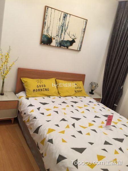 卧室橙色榻榻米北欧风格装修设计图片