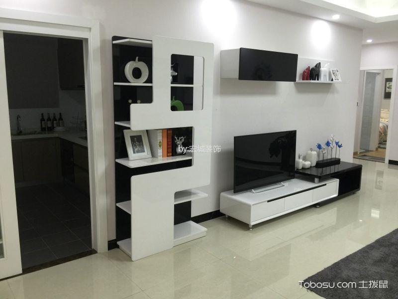 110现代风格三居室装修效果图