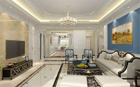 海德堡168平欧式风格五居室装修效果图