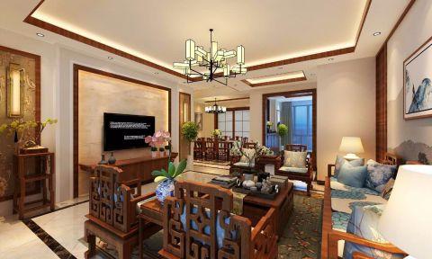 客厅门厅中式风格装潢效果图