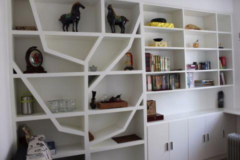 书房背景墙现代风格装修图片