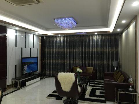 书香苑120平米现代风格三居室装修效果图
