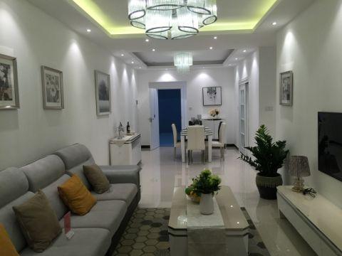 幸福家园100平米后现代风格三居室香榭丽舍装修效果图