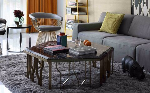 客厅吧台简约风格装潢图片