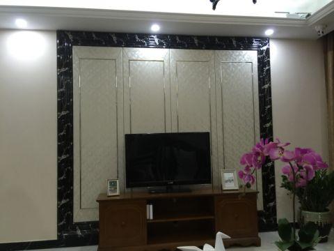 客厅背景墙新古典风格装修图片