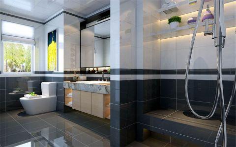 卫生间橱柜现代简约风格装潢效果图