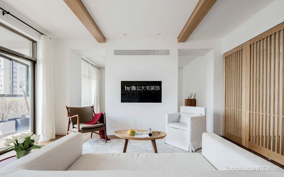 海德公园118平简约风格三居室装修效果图