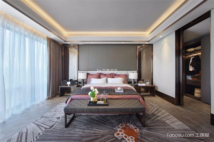 卧室米色隔断现代简约风格效果图