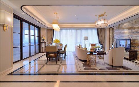 綠都萬和城140平米現代簡約風格二室裝修效果圖
