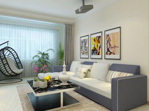 济南居联峰尚鲁商常春藤110平现代简约风格三居室装修效果图