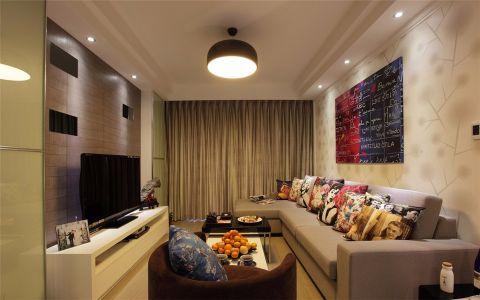 清江西苑75平现代风格两居室装修效果图