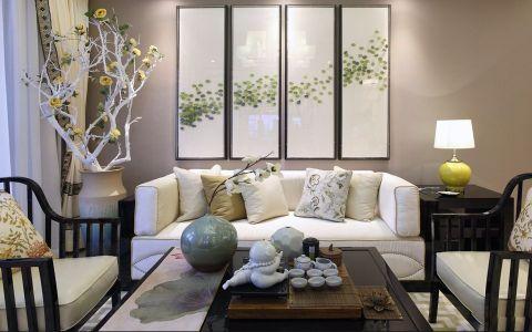 紫金城107平东南亚风格三居室装修效果图