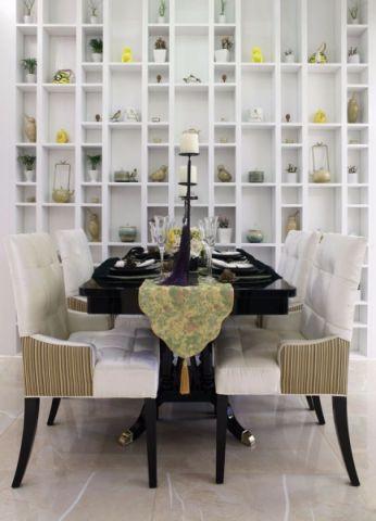 餐厅博古架东南亚风格装潢效果图