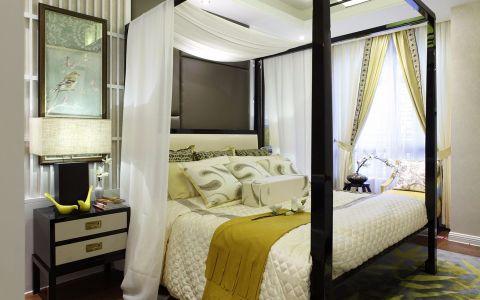 卧室窗帘东南亚风格装修图片
