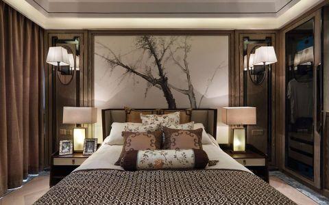 卧室窗帘东南亚风格装潢效果图