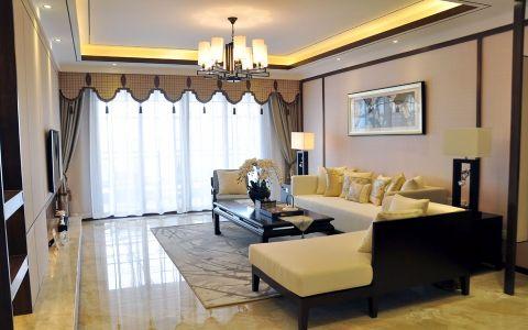 弘建一品110平东南亚风格三居室装修效果图