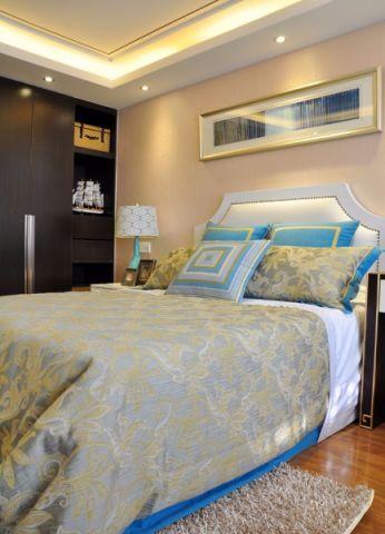 卧室推拉门东南亚风格装修效果图