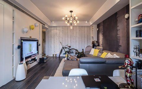 世纪公园104平米混搭风格三居室装修效果图欣赏