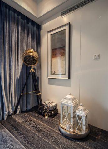 客厅窗帘混搭风格装修设计图片