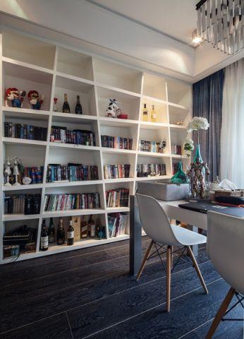 书房窗帘混搭风格装潢设计图片