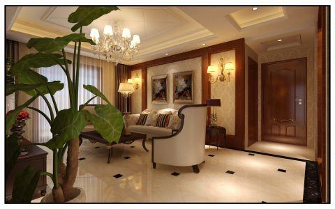 客厅吊顶新中式风格装饰图片