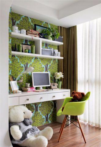 保利香槟100平现代风格三居室装修效果图
