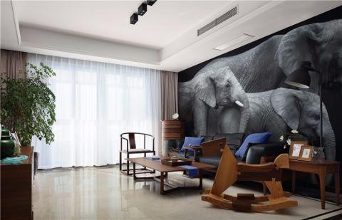 南昌万达城130平三房现代风格装修图