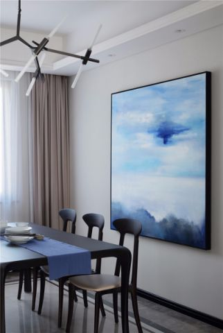南昌万达城130平三房现代装修图