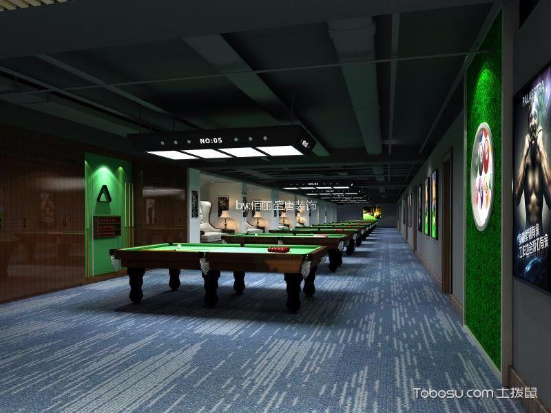 健身房台球厅蓝色地板装修图片