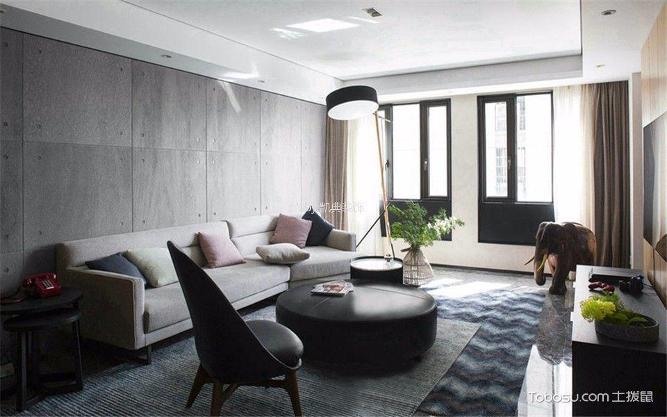 银城宝船听涛88平现代两室两厅一卫装修效果图