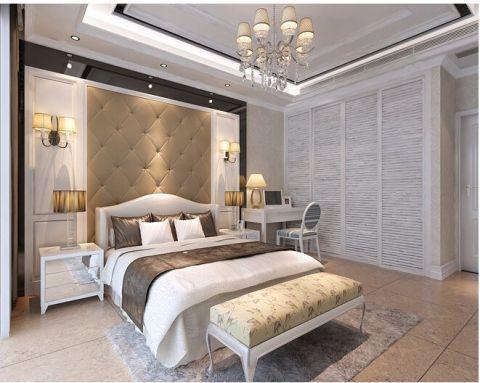卧室背景墙简欧风格装潢效果图