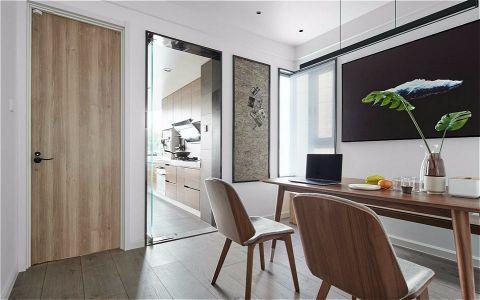 黄金海岸120M²简约三居室装修效果图