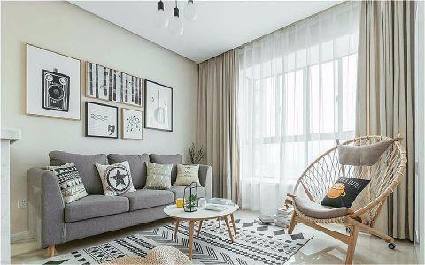 永新景园120M²简约三居室装修效果图