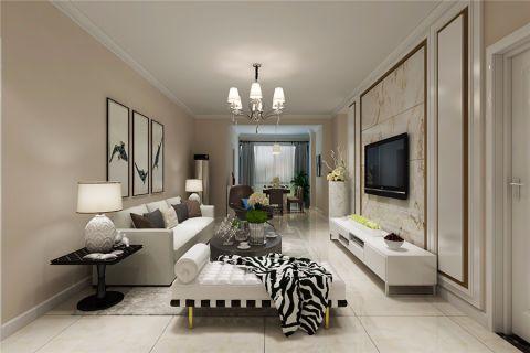 融侨天骏110平现代风格三居室装修效果图