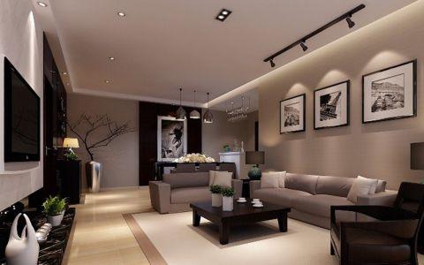 碧桂园翡翠湾119平米现代风格三居室装修效果图