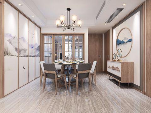 餐厅细节新中式风格装饰设计图片