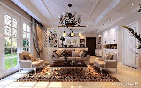 客厅博古架简欧风格装修设计图片