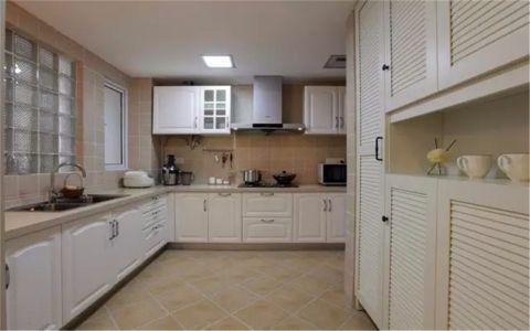 厨房吊顶田园风格装潢设计图片