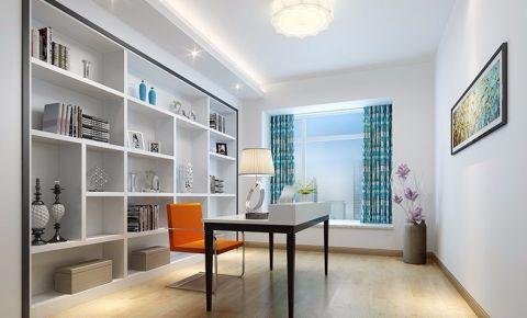书房飘窗简约风格装潢效果图