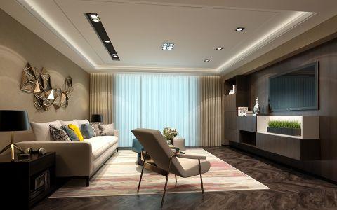 客厅背景墙后现代风格装饰效果图