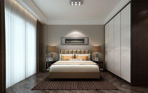 卧室窗帘后现代风格装潢图片