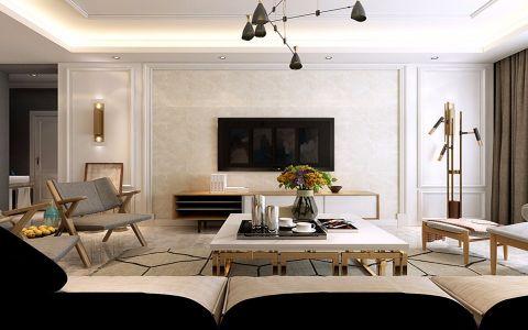 朝阳天城90平三室一厅现代简约风格设计