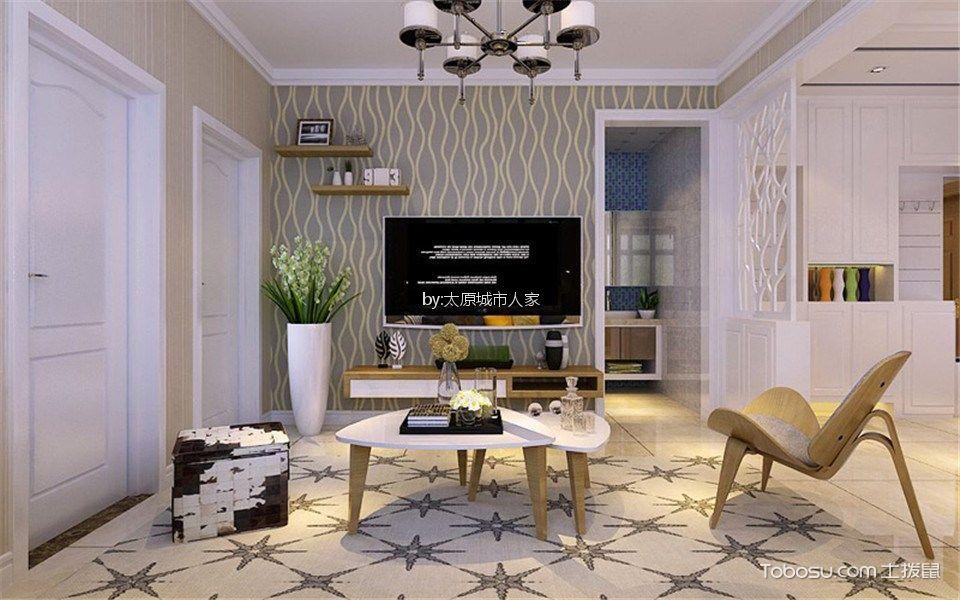 龙城天悦86平米现代简约设计风格装修效果图