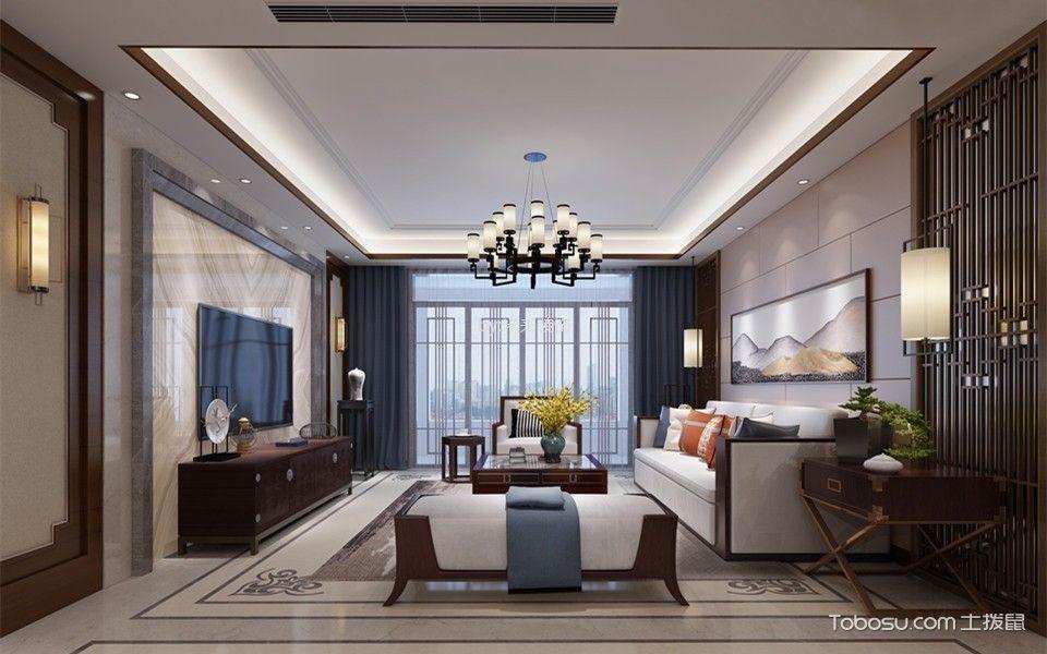 融侨观邸228平米新中式四居室装修效果图