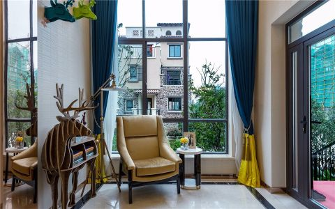 阳台飘窗现代简约风格装潢效果图