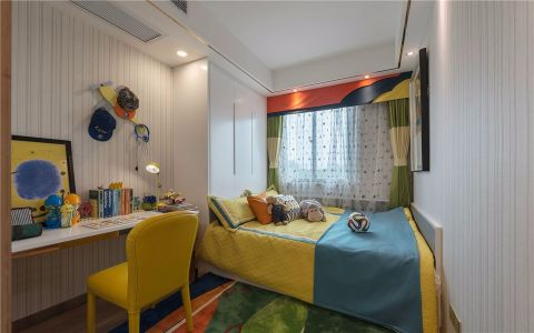 卧室背景墙现代简约风格装修图片