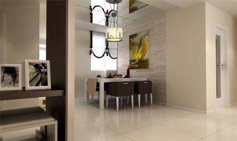 餐厅米色照片墙简约风格装修效果图