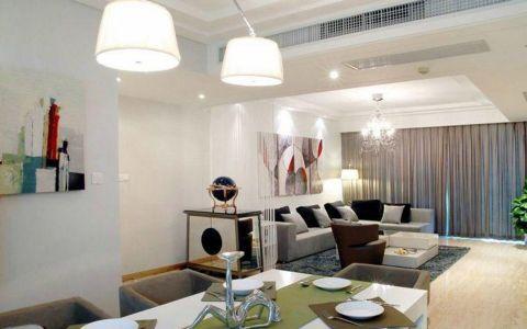 客厅咖啡色窗帘现代简约风格装饰效果图