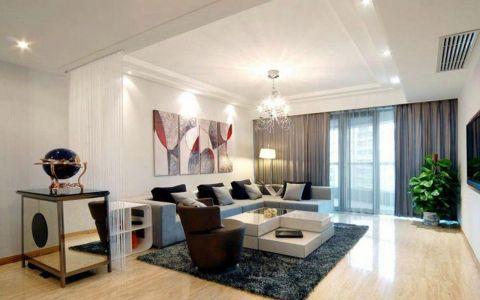 客厅米色细节现代简约风格装潢效果图